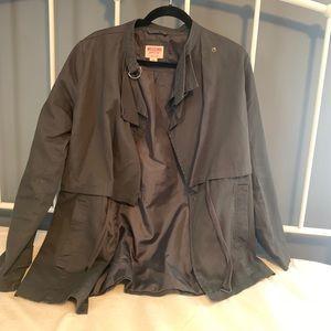 Charcoal Grey Utility Fall Jacket
